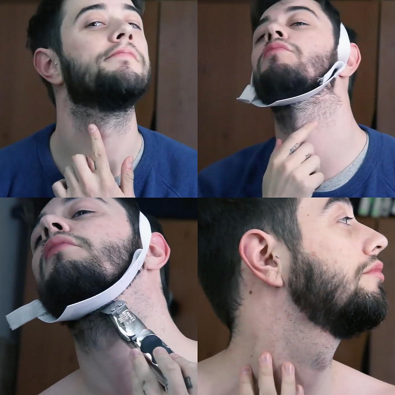 Aberlite Beard Shaper - FlexShaper Neckline Guide - Hands-Free & Flexible -  The Ultimate Neckline Beard