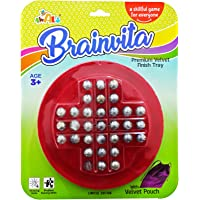 ShopMeFast Awals Brainvita Game for Kids with Velvet Pouch