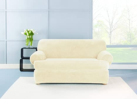 Fabulous Amazon Com Sure Fit Stretch Plush Separate Seat Loveseat Ncnpc Chair Design For Home Ncnpcorg