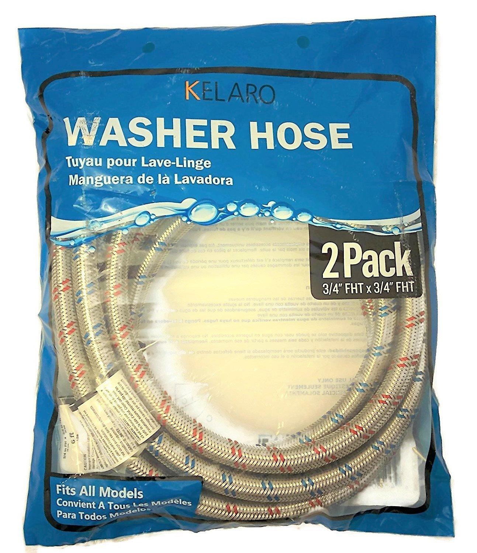 Amazon.com: Premium Stainless Steel Washing Machine Hoses, 6 Ft ...