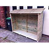 Wooden Log Store - Made from treated timber with 15 year guarantee