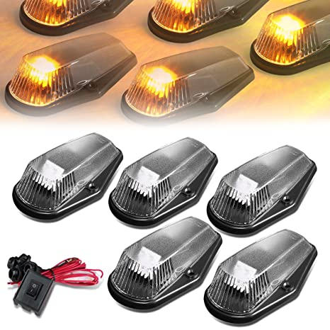 Led Auto Lights >> Amazon Com For Ford F150 F450 5 X Led Cab Roof Top Lights Wiring