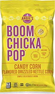 product image for Angie's BOOMCHICKAPOP Candy Corn Holiday Popcorn, 4.5 Ounce (Pack of 12 Bags)