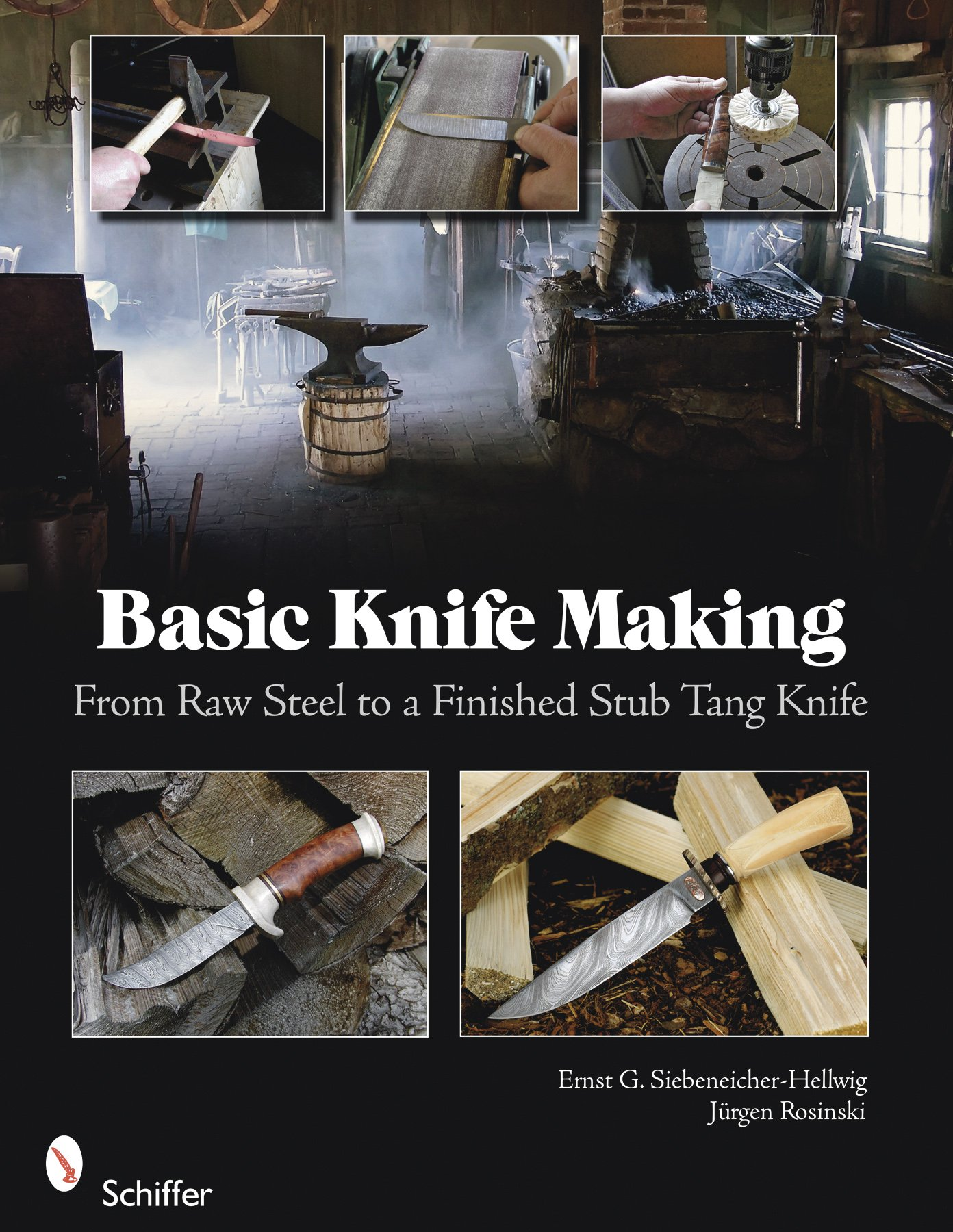 basic knife making from raw steel to a finished stub tang knife