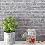 Timeet 17.7x196.9 inch Brick Peel and Stick Wallpaper Self-Adhesive Film Brick Textured Wallpaper Removable Film for…