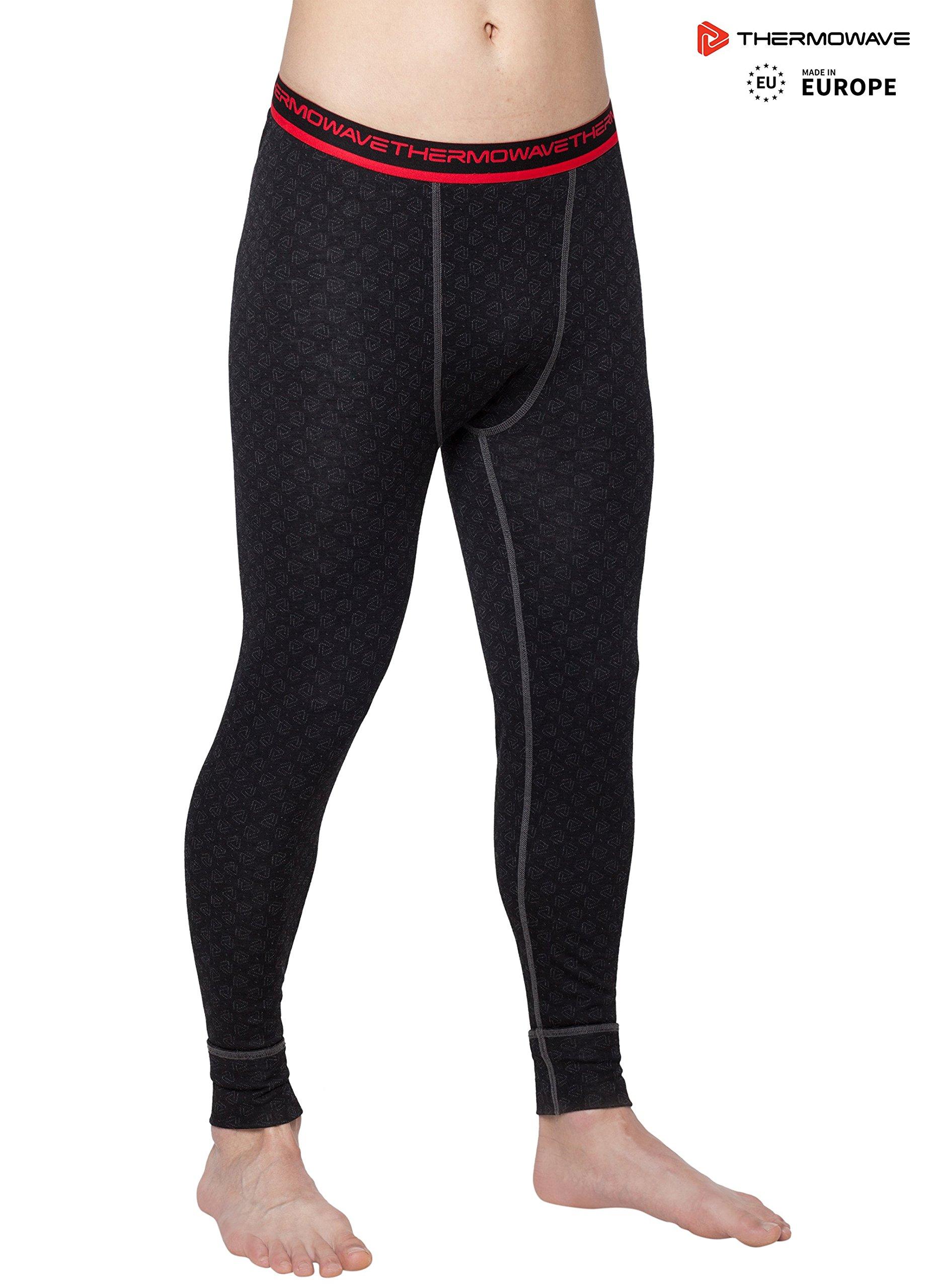 Thermowave - Merino Xtreme/Mens Merino Wool Thermal Pants/Black - Small
