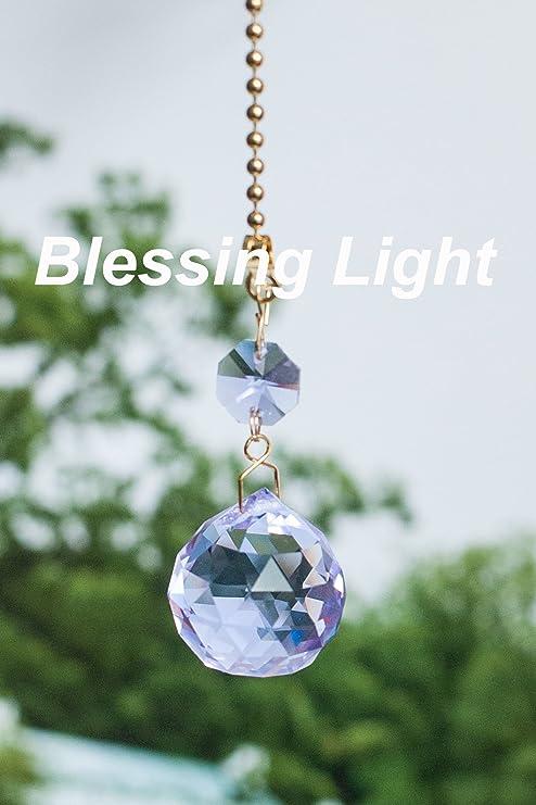 Amazon.com: 2 de púrpura deslumbrante Crystal ventilador de ...