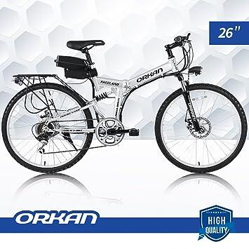 "Orkan E-Bike bicicleta eléctrica Floding 7 velocidades, 250 W, 26 """