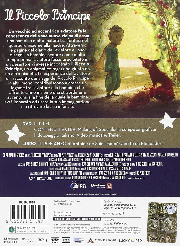 Il piccolo principe libro mondadori: amazon.it: animazione: film e tv