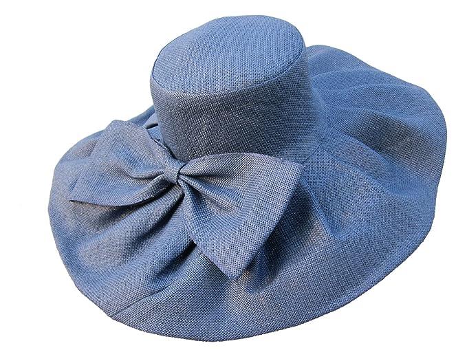Cappello da donna estivo in lino a tesa larga 28d41b260675