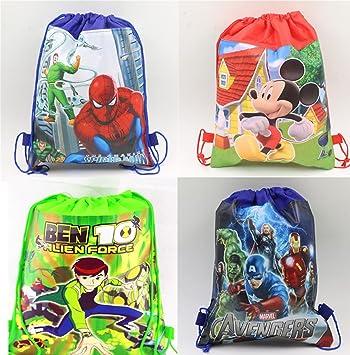 Cartoon Printed Kids Haversack Birthday Party Return Gift For Boys Pack Of 12