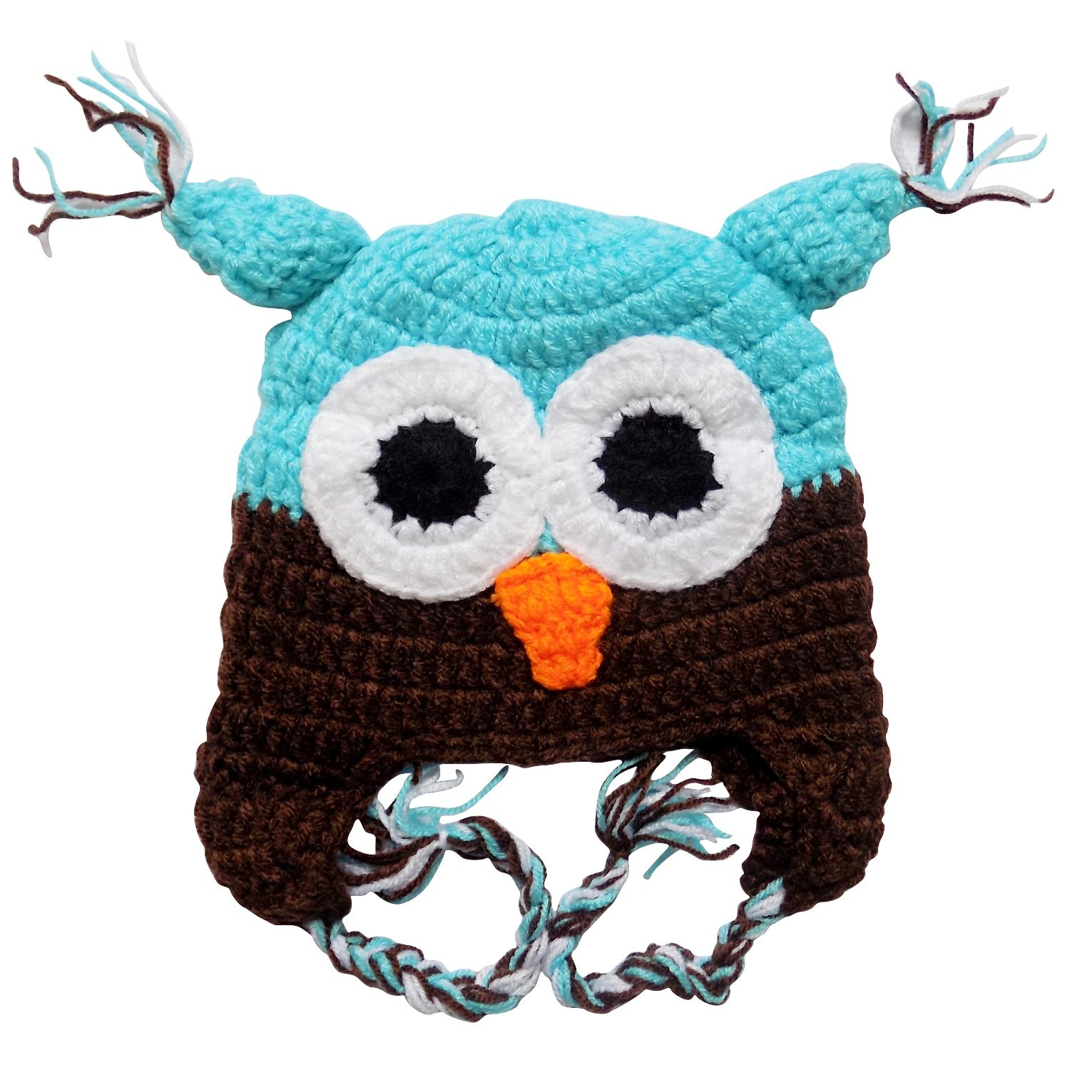 b3ad8167c55 Stretchy Crochet Animal Hat For Baby Toddler - One Size 3-18 MO 2T (Cow) at  Amazon Men s Clothing store