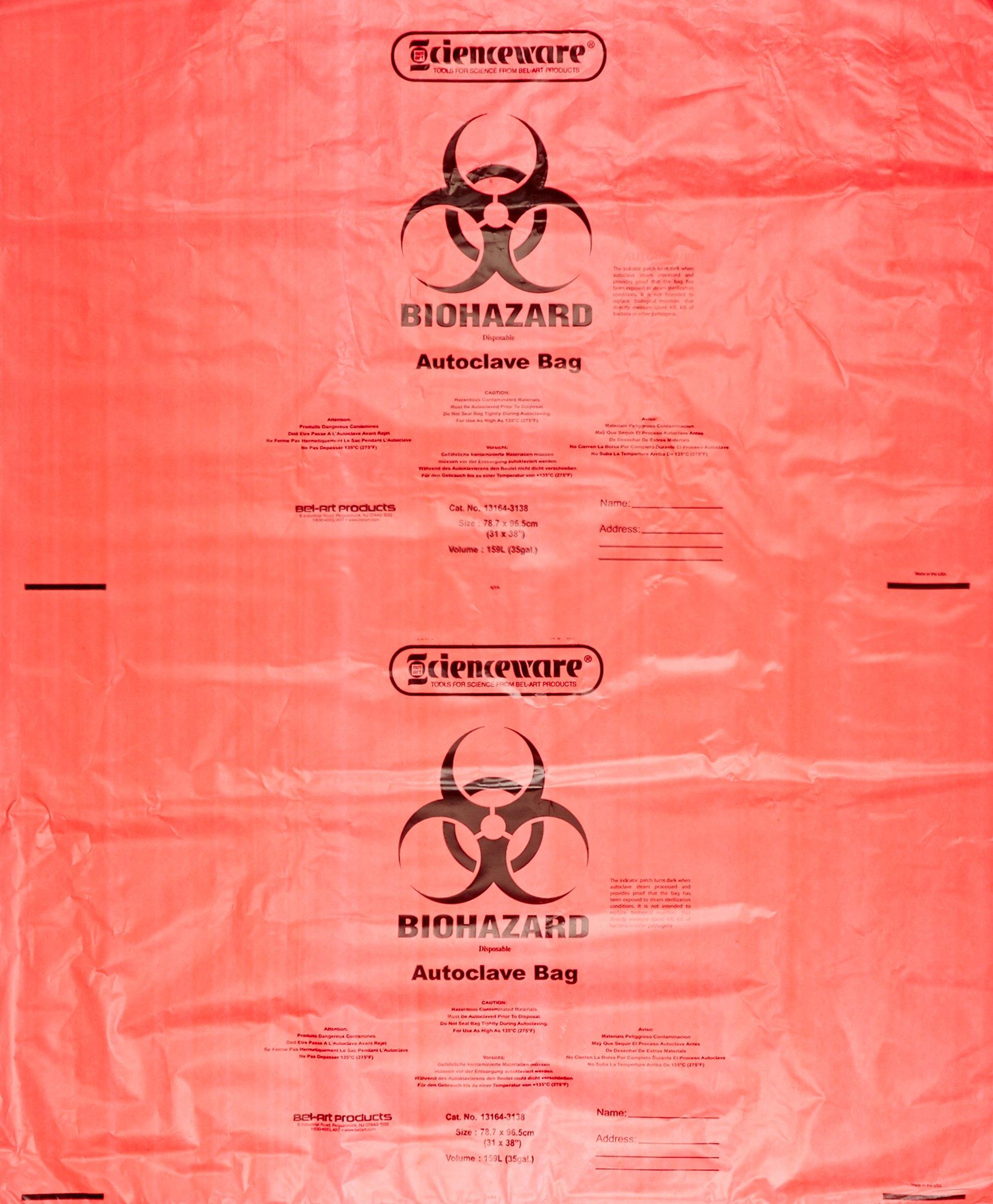 Biohazard Disposal Bags 20-30 Gallon