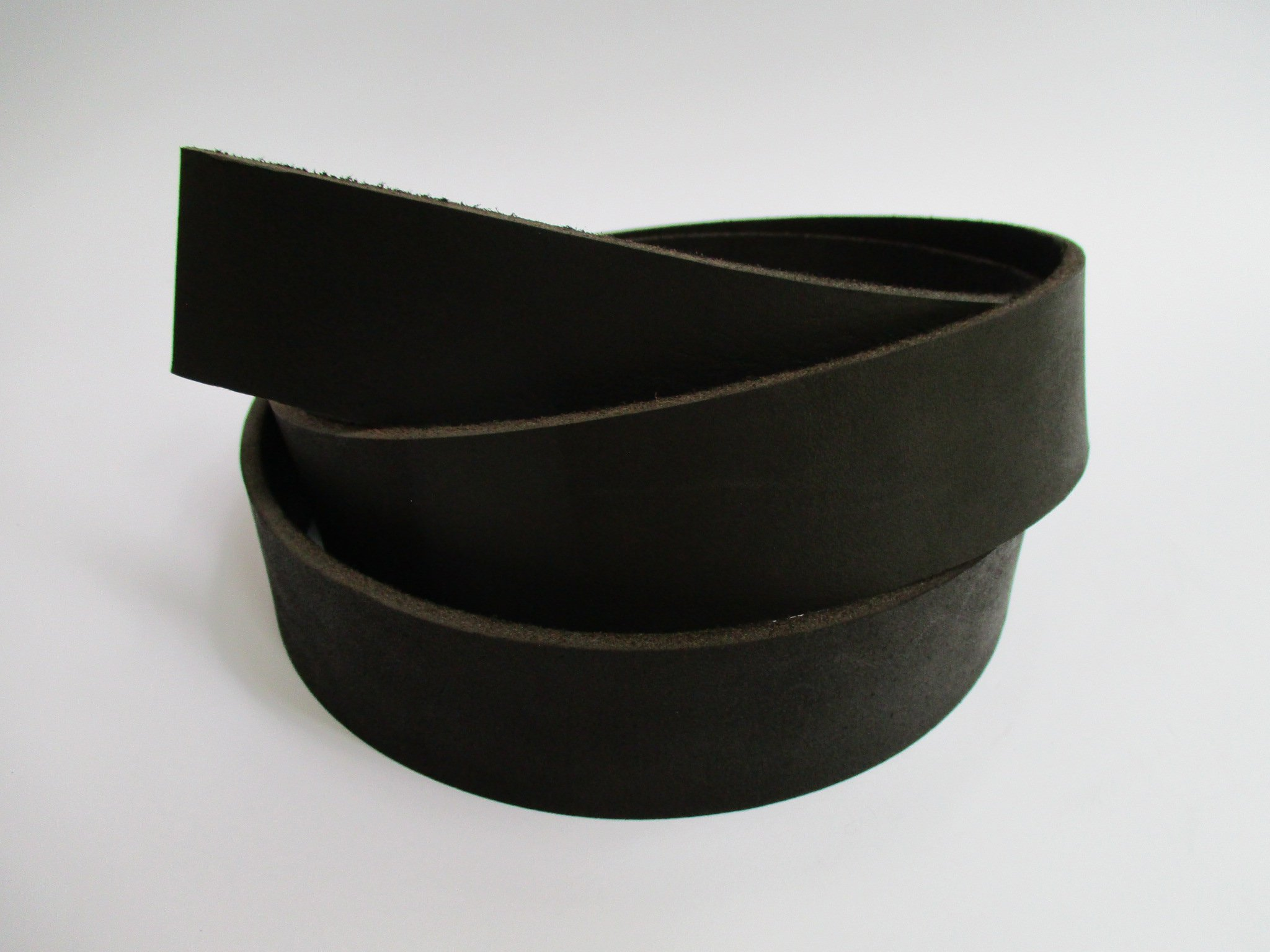 8 oz 51-59''. Black Genuine Natural Leather Belt Blank Strip Strap Band. (1 1/2'' (38mm.)) by Lipskiy