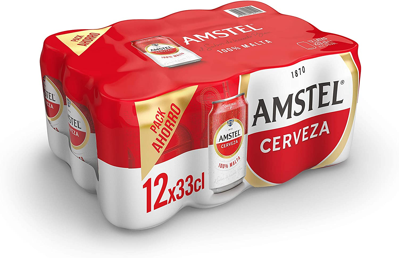Amstel Cerveza - Pack de 12 Latas x 330 ml (Total: 3.96 L)