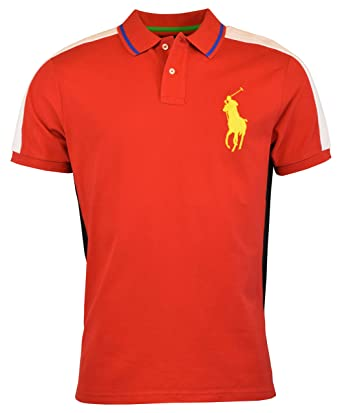 48dc2849254d4 Image Unavailable. Image not available for. Color: Polo Ralph Lauren Men's  Big Pony Custom Slim Fit Mesh Polo Shirt ...