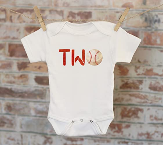 Baseball Second Birthday Onesie 2nd Boys Outfit