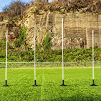 Mini AFL Goal Posts | PVC Poles & 3KG Rubber Bases | Carry Bag Included