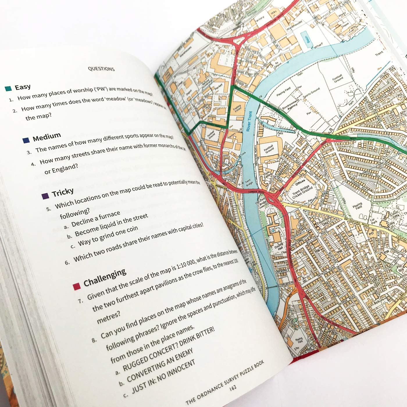 Map Of Just England.The Ordnance Survey Puzzle Book Pit Your Wits Against Britain S