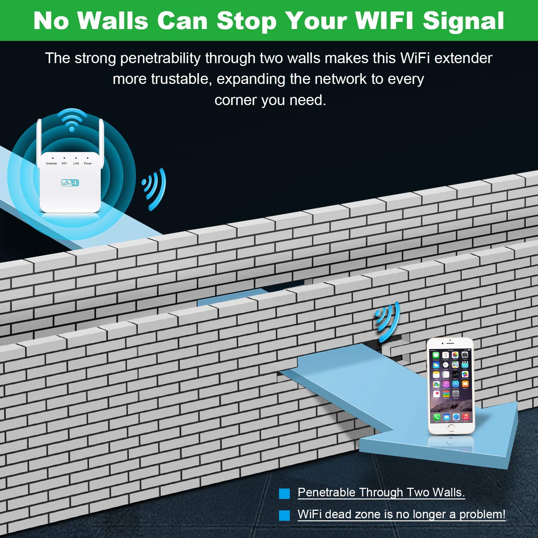 WLAN Verstaerker 300 Mbps//2.4GHz WiFi Repeater Extender Unterst/ützt 10 Devices Temfly WLAN Repeater WLAN Verst/ärker mit Steckdose mit LAN-Port und WPS Funktiom