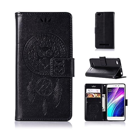 BCIT Xiaomi Redmi 4A Funda - [Patrón de búho] Carcasa Libro de Cuero con Tapa y Cartera,Soporte Plegable,Ranuras para Tarjetas y Billetera,Cierre ...