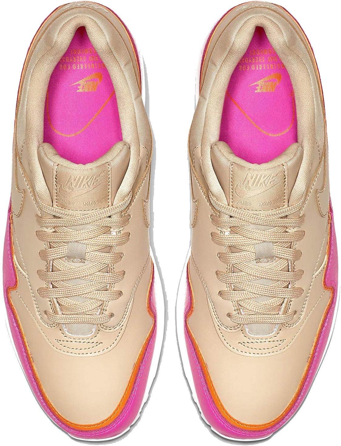 Nike Dames WMNS Air Max 1 Se Track & Field Schoenen Veelkleurige woestijn Erts Woestijn Erts Laser Fuchsia 000
