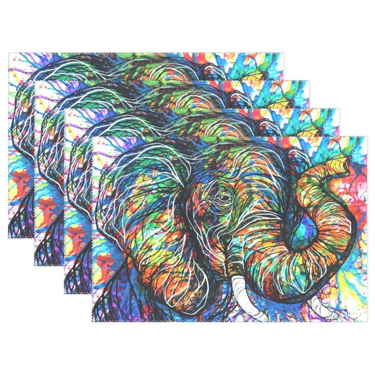 baihuishop Aztec Elephant 12 x 18
