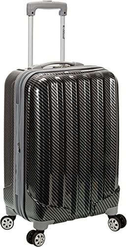Rockland Santa Fe Hardside Spinner Wheel Luggage, Fiber, Carry-On 20-Inch
