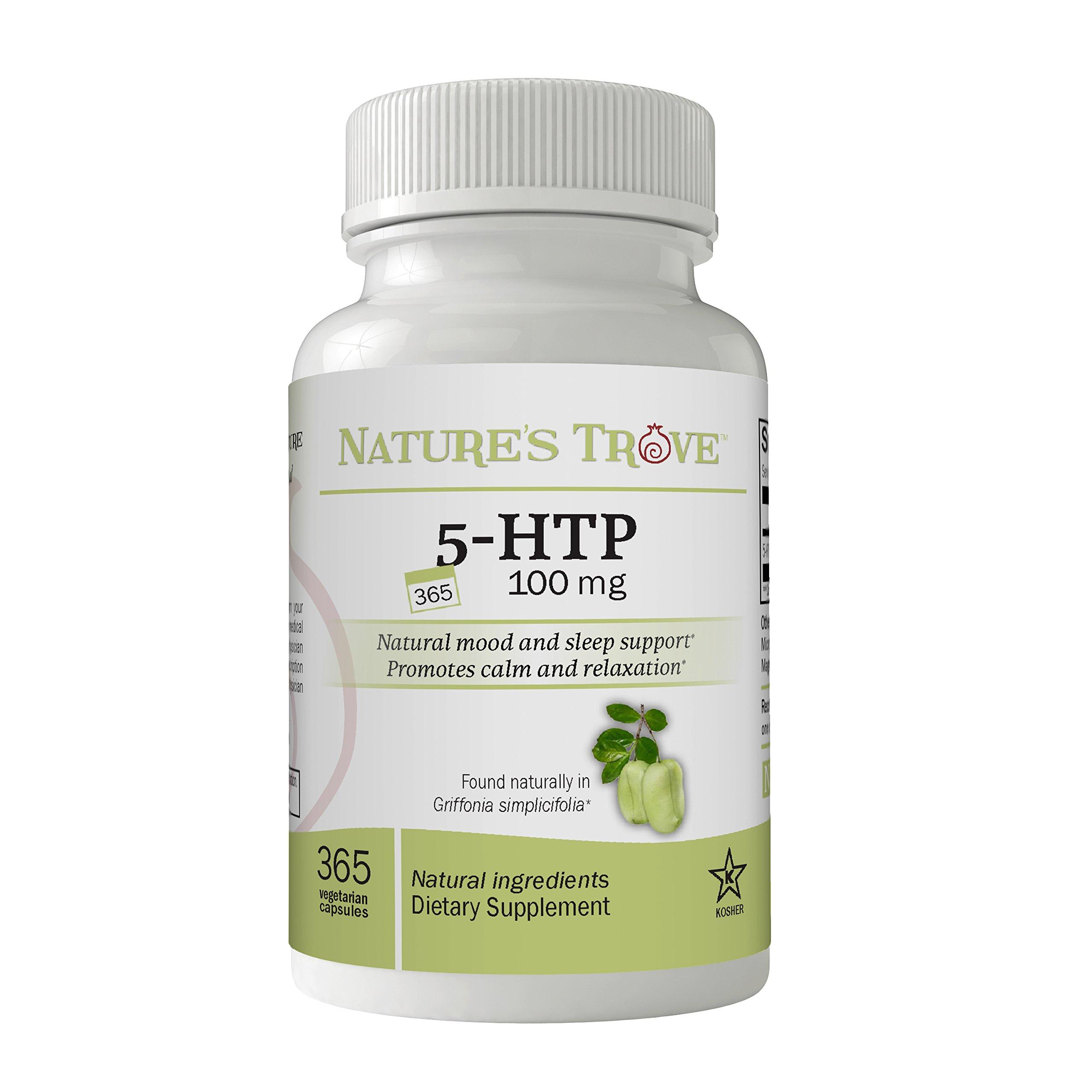 5-HTP 100 mg SUPER VALUE SIZE - 365 Vegetarian Capsules