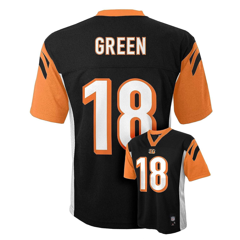 112882d9 Outerstuff AJ Green Cincinnati Bengals #18 Black Kids Mid Tier Home Jersey