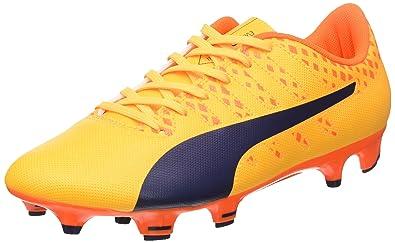 Puma Evopower Vigor 2 FG, Chaussures de Football Homme, Orange (Ultra Yellow-Peacoat-Orange Clown Fish 04), 41 EU