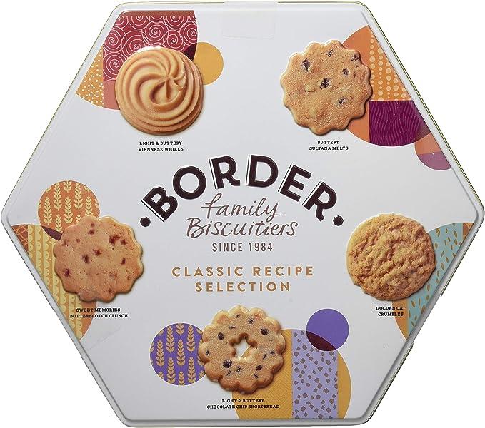Border Biscuits, Surtido de Galletas Hexagonal Classic Recipe Selection Tin - 400 gr.: Amazon.es: Alimentación y bebidas