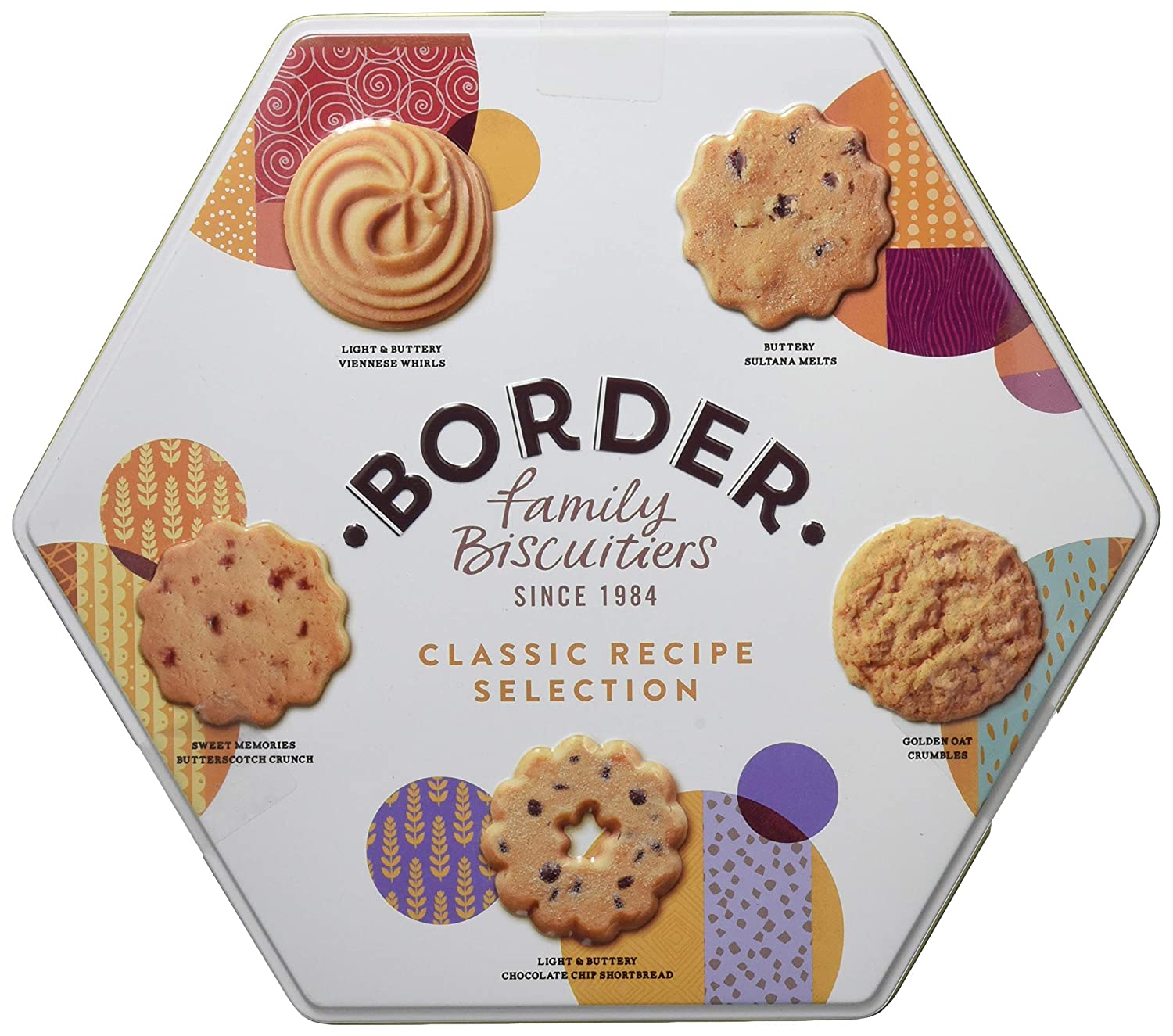 Border Biscuits, Surtido de Galletas Hexagonal Classic Recipe Selection Tin - 400 gr.: Amazon.es: Alimentación y bebidas