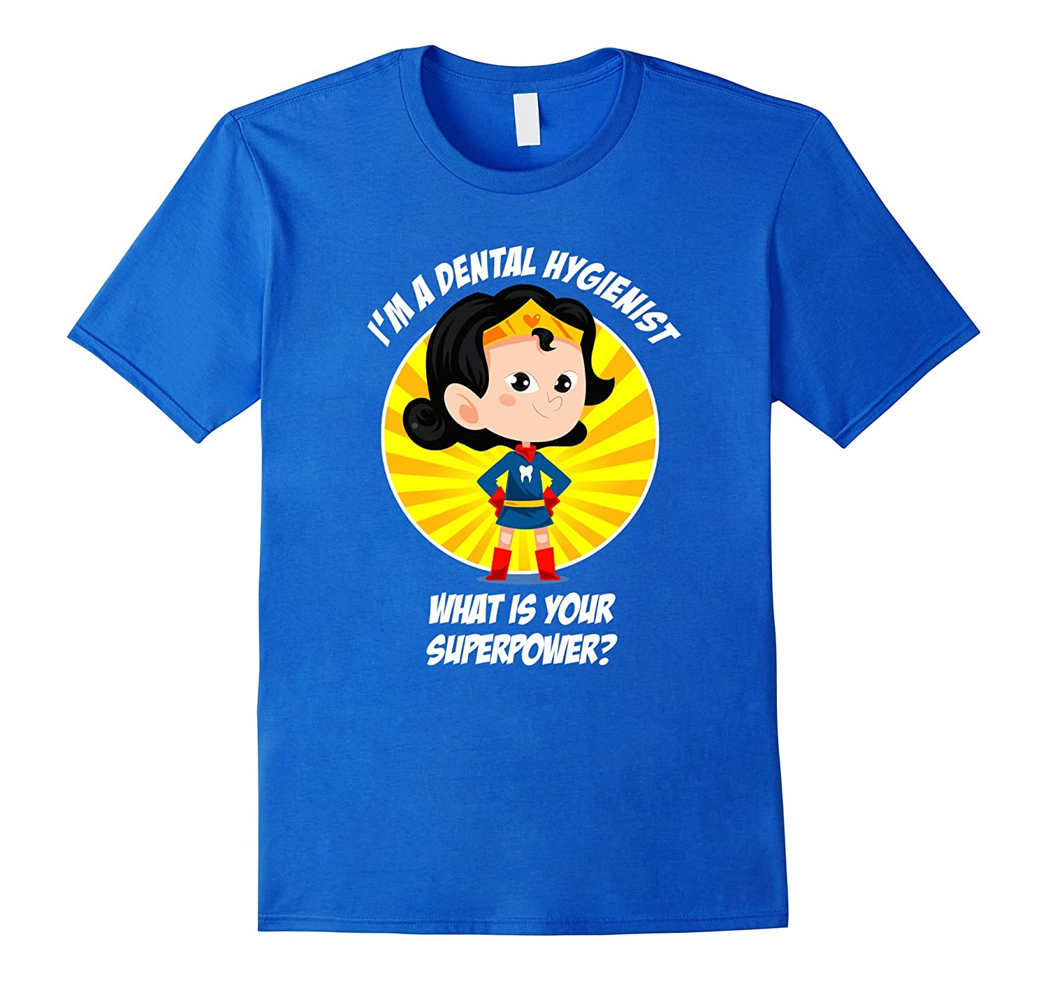 Funny Dental Hygienist Superhero T-Shirt-FL