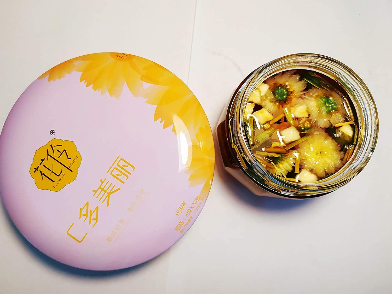 FLOWER ROUGE 120g(4.23oz) Chrysanthemum tea, Roselle Flower tea, Apple Juice, Light Bamboo Leaves tea Natural Health Chinese flower and herbal tea
