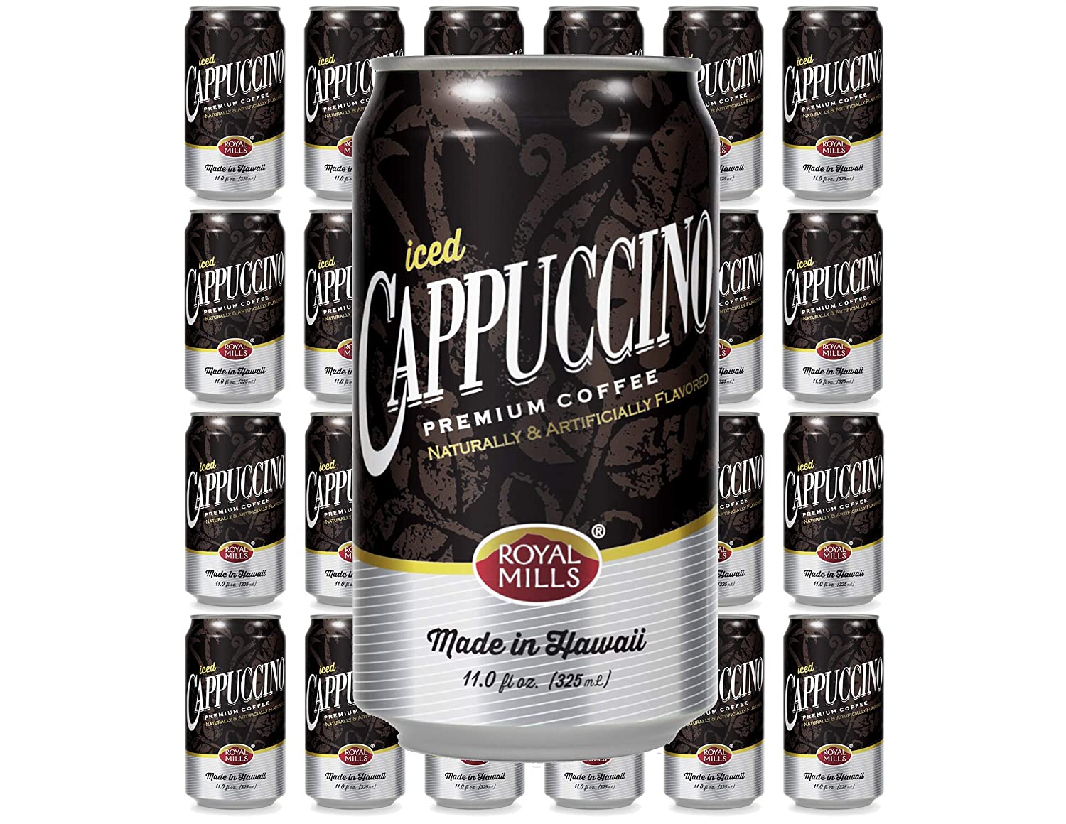 Royal Mills Iced Cappuccino, Premium Coffee, Made in Hawaii, 11 Fl Oz | 24 Pack