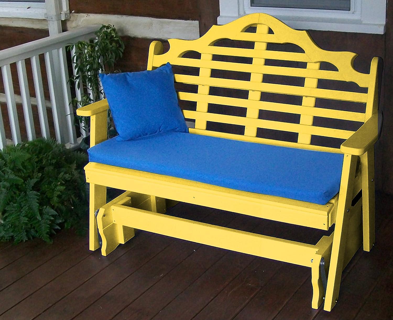 Mejor porche muebles Glider banco, 5 de jardín Lutyens asiento, todo tipo de clima, madera, UPS el WOW factor para exteriores & pérgolas, terraza y cubiertas, toma Patio Decoración a un nuevo