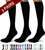 SB SOX 3-Pair Compression Socks (15-20mmHg) for Men & Women