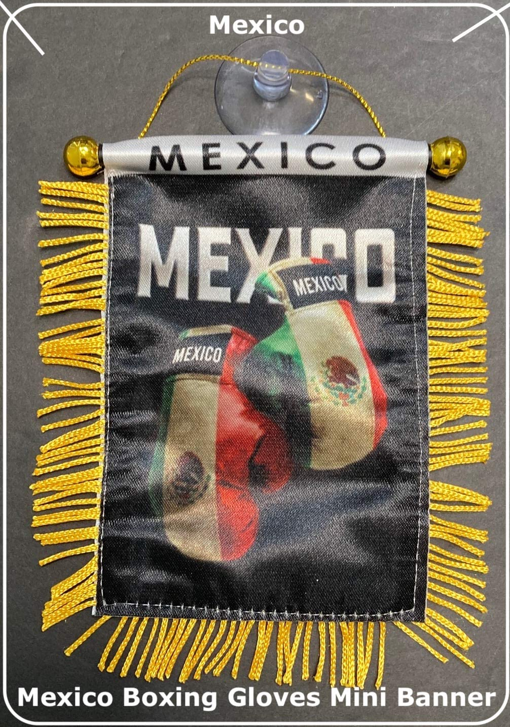 Mexico Mexican Flags for car Interior Rearview Mirror or Home Sticks to Windows Glass Quick and Easy Quality Small Hanging Mini Banner Flags car Accessories (1 Flag