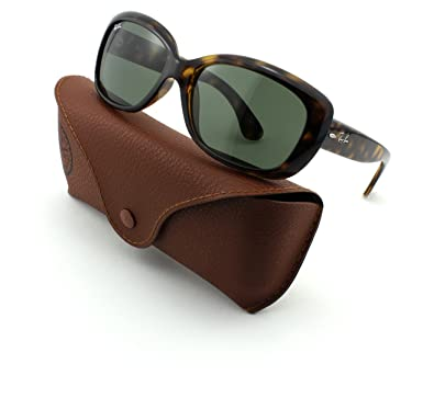 04e3ecc9cb6 Image Unavailable. Image not available for. Color  Ray-Ban RB4101 Jackie  OHH Light Havana Frame 710 Crytal Green Lens 58mm