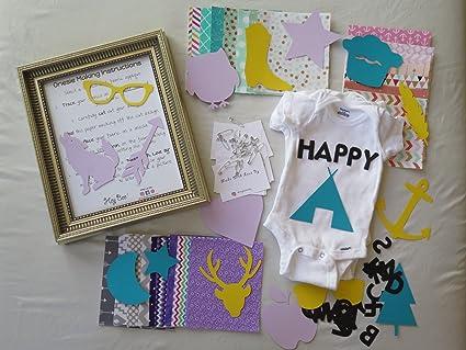 Amazoncom Trendy Theme Baby Shower Diy Onesie Making Kit Girl