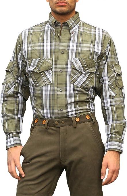 Camisa de caza cazador Camisa para caza caza verde/cuadros Jagdgrün/kariert 46: Amazon.es: Ropa y accesorios