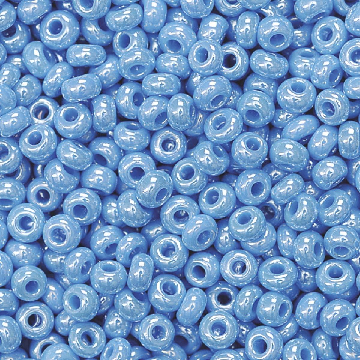2.5 mm Durchmesser himmelblau KnorrPrandell 3104346 Rocailles