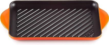 Oferta amazon: Le Creuset Parrilla de hierro fundido, Rectangular, 33 x 22 cm, Apto para todas las fuentes de calor, incluso inducción, Volcánico