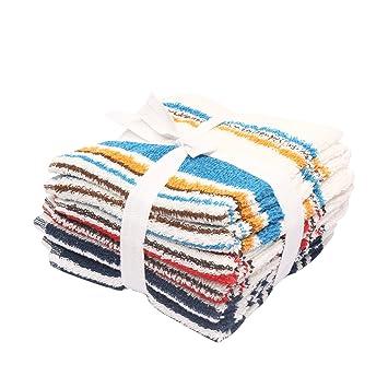Elementos Terry toallas de cara (6 unidades) algodón, se puede lavar a máquina, varios colores - suave, Super abosrbent: Amazon.es: Hogar