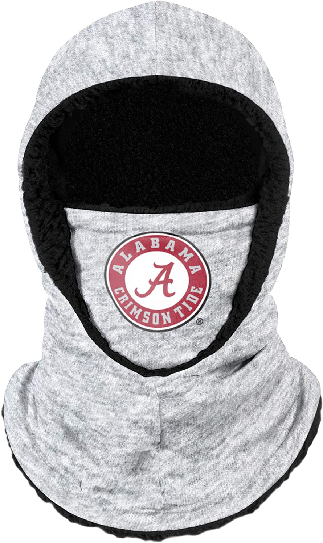 FOCO Alabama Crimson Tide NCAA Heather Grey Big Logo Hooded Gaiter