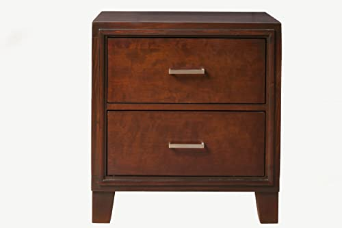 Furniture of America Parlin 2-Drawer Nightstand/Bedside Table