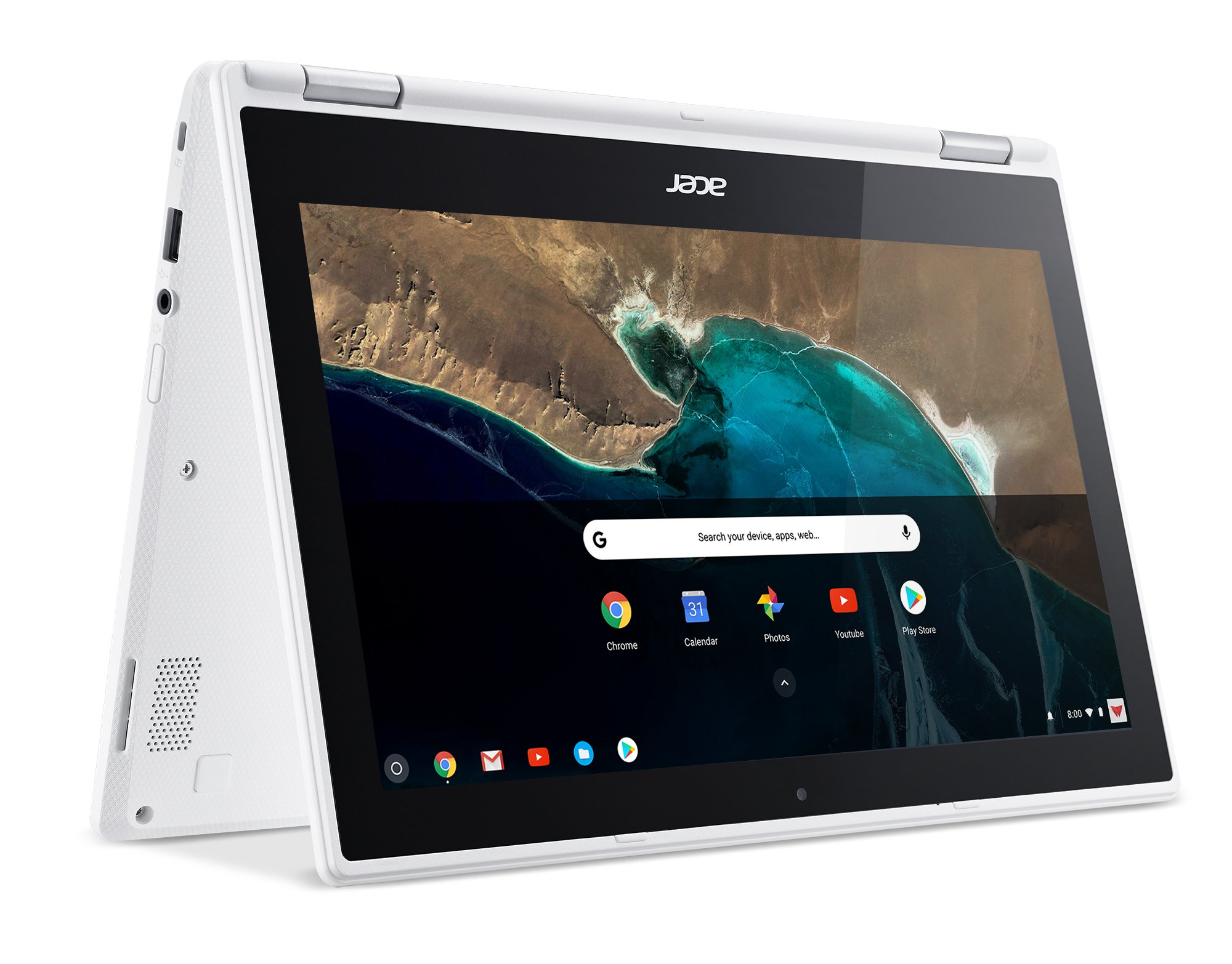Acer Chromebook R 11 Convertible, 11.6-Inch HD Touch, Intel Celeron N3150, 4GB DDR3L, 32GB, CB5-132T-C1LK, Denim White