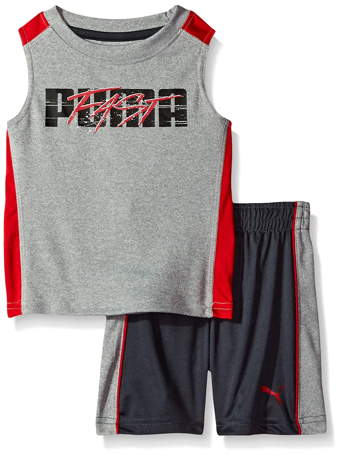 PUMA Baby-Boys Baby Baby 2 Piece Short and Muscle Set 21175180