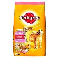 Pedigree Dry Dog Food, Chicken & Milk for Puppy – 3 kg